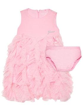 Guess Guess Sukienka elegancka A1RK22 KAE30 Różowy Regular Fit