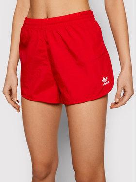 adidas adidas Sportiniai šortai adicolor 3Str GN2886 Raudona Regular Fit