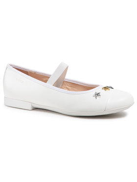 Geox Geox Κλειστά παπούτσια J Plie' B J1555B 000BC C1000 D Λευκό