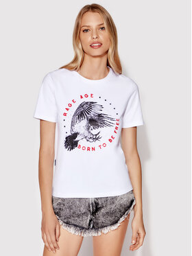 Rage Age Rage Age T-Shirt Freedom 2 Weiß Regular Fit