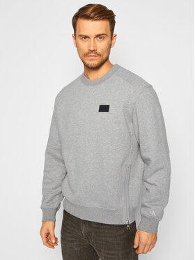 Calvin Klein Jeans Calvin Klein Jeans Bluza Moto Zip J30J316682 Szary Relaxed Fit