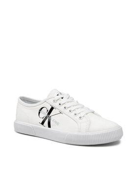 Calvin Klein Jeans Calvin Klein Jeans Plátenky Vulcanized Sneaker Laceup Co YW0YW00402 Biela