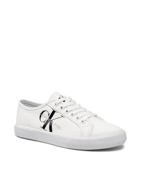 Calvin Klein Jeans Calvin Klein Jeans Plátěnky Vulcanized Sneaker Laceup Co YW0YW00402 Bílá