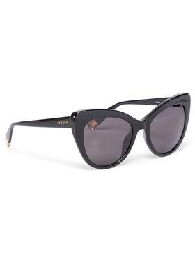 Furla Furla Okulary przeciwsłoneczne Sunglasses SFU405 405FFS9-RE0000-O6000-4-401-20-CN-D Czarny