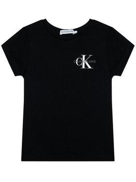 Calvin Klein Jeans Calvin Klein Jeans Póló Chest Monogram IG0IG00573 Fekete Regular Fit