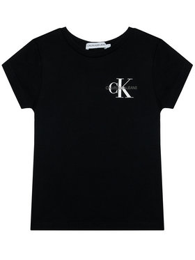 Calvin Klein Jeans Calvin Klein Jeans Tričko Chest Monogram IG0IG00573 Čierna Regular Fit