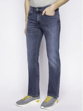 Trussardi Jeans Trussardi Jeans Džínsy Regular Fit Emboss 52J00018 Tmavomodrá Regular Fit