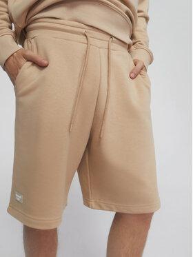 Sprandi Sprandi Pantaloni scurți sport SS21-SHM001 Bej Regular Fit