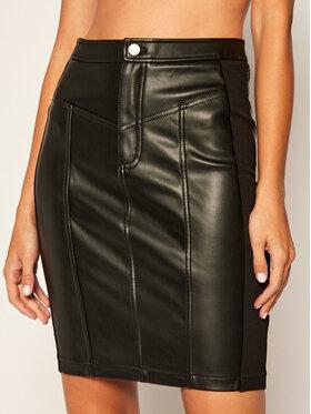 Calvin Klein Jeans Calvin Klein Jeans Bőr szoknya Pencil J20J214186 Fekete Slim Fit