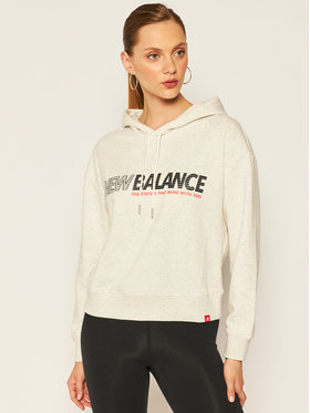 New Balance Mikina Essentials Speed WT03508 Sivá Relaxed Fit
