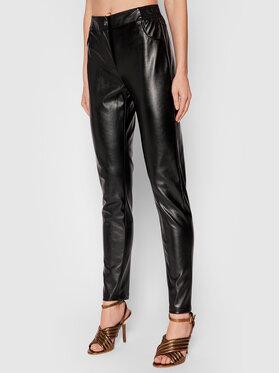 Silvian Heach Silvian Heach Spodnie z imitacji skóry Framitid PGA21254PA Czarny Regular Fit