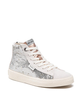 Pepe Jeans Pepe Jeans Sneakersy Portobello Girl PGS30409 Strieborná