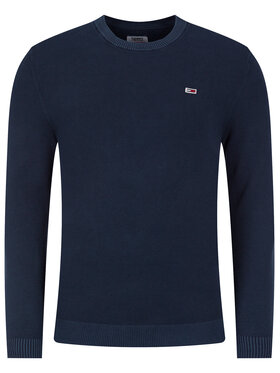 Tommy Jeans Tommy Jeans Megztinis Lightweight DM0DM07947 Tamsiai mėlyna Regular Fit
