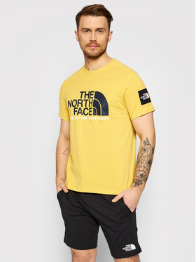 The North Face The North Face T-Shirt Fine Alpine 2 NF0A4M6NZBJ1 Żółty Regular Fit