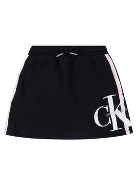 Calvin Klein Jeans Calvin Klein Jeans Fustă Monogram IG0IG0052 Negru Regular Fit