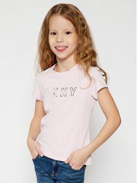DKNY DKNY Marškinėliai D35Q77 Rožinė Regular Fit