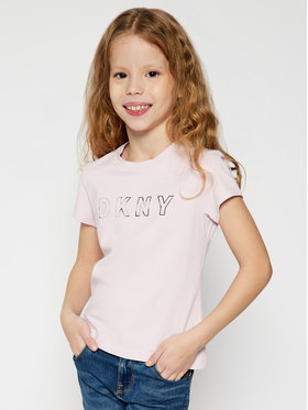 DKNY DKNY T-shirt D35Q77 Rosa Regular Fit