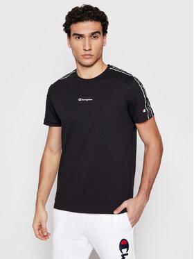 Champion Champion T-Shirt Jacquard Logo 214229 Czarny Comfort Fit