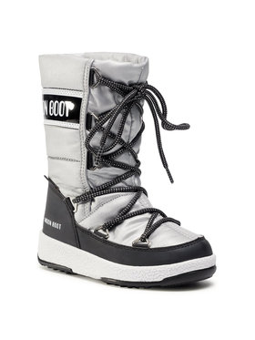 Moon Boot Moon Boot Μπότες Χιονιού Jr G.Quilted Wp 34051400006 M Ασημί