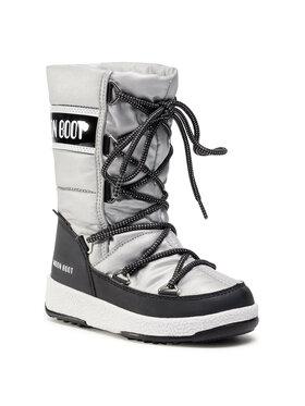 Moon Boot Moon Boot Sněhule Jr G.Quilted Wp 34051400006 M Stříbrná