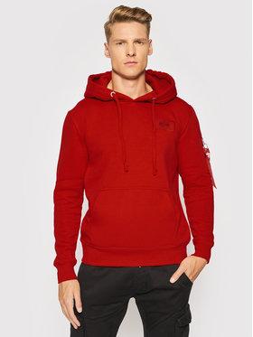 Alpha Industries Alpha Industries Sweatshirt Back Print 178318 Rot Regular Fit