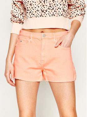 Tommy Jeans Tommy Jeans Džínsové šortky Raw Hem DW0DW08233 Oranžová Regular Fit