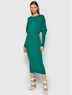 TWINSET TWINSET Sukienka dzianinowa 212TT3094 Zielony Slim Fit