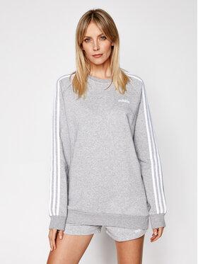 adidas adidas Bluză Essential Boyfriend Crew FN5785 Gri Regular Fit