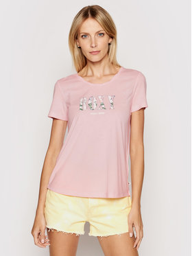 Roxy Roxy T-shirt Chasing The Swell ERJZT05179 Rose Regular Fit
