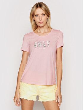 Roxy Roxy T-Shirt Chasing The Swell ERJZT05179 Różowy Regular Fit