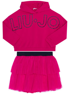Liu Jo Kids Liu Jo Kids Ensemble sweatshirt et jupe KF0039 F0090 Rose Regular Fit