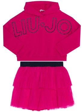 Liu Jo Kids Liu Jo Kids Sada mikina a sukně KF0039 F0090 Růžová Regular Fit