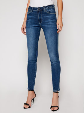 Guess Guess Skinny Fit džínsy Sexy Curve W0BAJ3 D4662 Tmavomodrá Skinny Fit