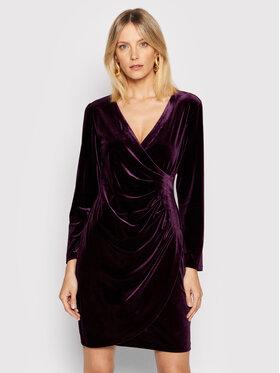 DKNY DKNY Sukienka koktajlowa DD9IF965 Fioletowy Slim Fit