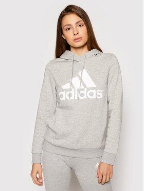 adidas adidas Bluza Essentials Logo GL0719 Szary Standard Fit