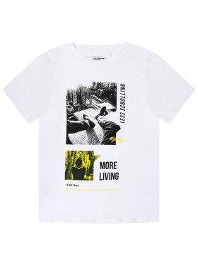 Primigi Primigi T-Shirt State Of Mind 45223001 Biały Regular Fit