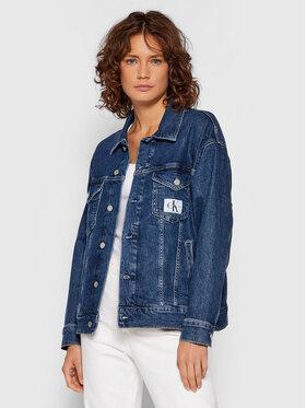Calvin Klein Jeans Calvin Klein Jeans Kurtka jeansowa J20J216439 Granatowy Relaxed Fit