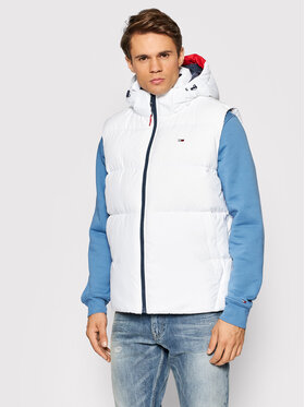 Tommy Jeans Tommy Jeans Weste Essential DM0DM11215 Weiß Regular Fit