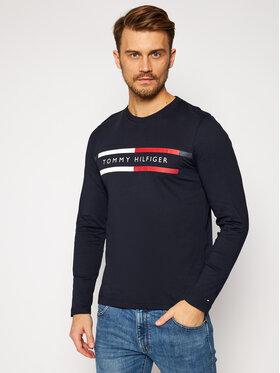 TOMMY HILFIGER TOMMY HILFIGER Marškinėliai ilgomis rankovėmis Corp Chest Striple Tee MW0MW15338 Tamsiai mėlyna Regular Fit