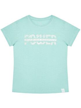 4F 4F T-Shirt HJL21-JTSD007A Zielony Regular Fit