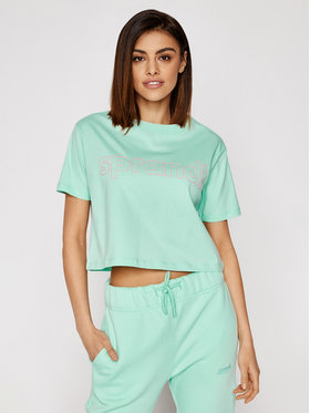 Sprandi Sprandi T-shirt SS21-TSD004 Verde Cropp Fit