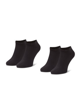 Levi's® Levi's® Σετ κοντές κάλτσες ανδρικές 2 τεμαχίων 37157-0198 Μαύρο