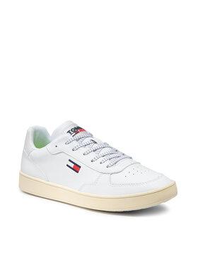 Tommy Jeans Tommy Jeans Laisvalaikio batai Tommy Jeans Seasonal Cupsole EM0EM00673 Balta