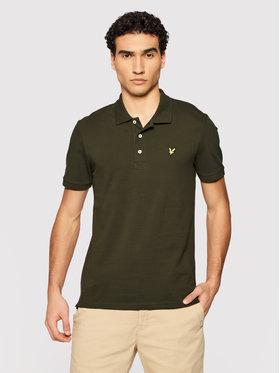 Lyle & Scott Lyle & Scott Тениска с яка и копчета Plain SP400VOG Зелен Regular Fit