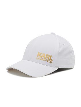 KARL LAGERFELD KARL LAGERFELD Шапка с козирка 805619 511123 Бял