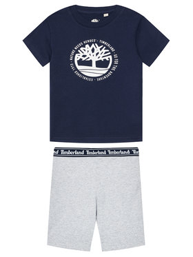 Timberland Timberland Ensemble t-shirt et short T27096 M Multicolore Regular Fit
