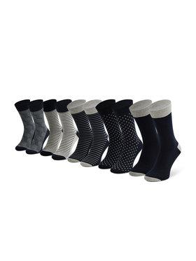 Jack&Jones Jack&Jones Lot de 5 paires de chaussettes hautes homme Jaclight 12185708 Gris