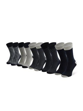 Jack&Jones Jack&Jones Súprava 5 párov vysokých pánskych ponožiek Jaclight 12185708 Sivá
