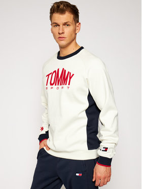 Tommy Sport Tommy Sport Bluză Blocked Fleece logo S20S200510 Bej Regular Fit