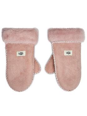 Ugg Ugg Dětské rukavice K Sheepskin Mitten W Stitch 20095 Růžová